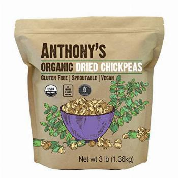 Anthony's Organic Dried Chickpeas, 3 lb, Dry Garbanzo Beans,