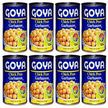 Goya Chick Peas Garbanzo 15.5 oz.cans (PACK OF 8 Cans)