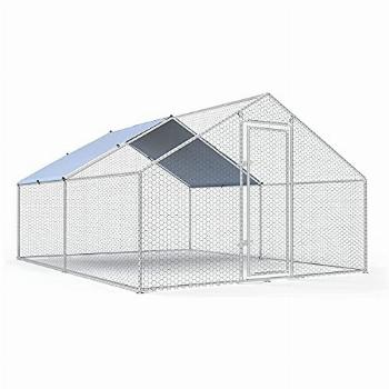 Large Metal Chicken Coop Walk-in Poultry Cage Chicken Run