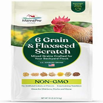Manna Pro 6 Grain and Flaxseed Scratch | for Backyard
