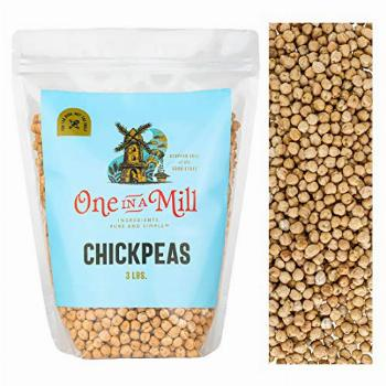 One in a Mill Whole Raw Chickpeas 3lb Bulk Resealable Bag |