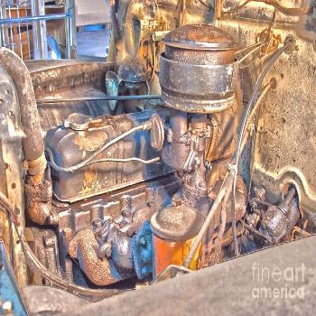 Photograph - 1949 Chevy Truck Engine by D Wallace ,