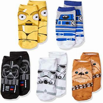 Star Wars Chewbacca Darth Vader R2-D2 Faces 5 Pack Ankle