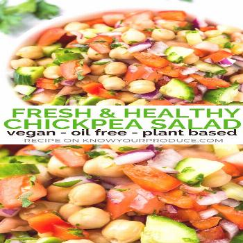 This Chickpea Salad is a light and refreshing summer salad recipe and you can easily add in more ve