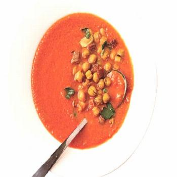 Tomato Soup with Roasted Chickpeas Tomato Soup with Roasted Chickpeas