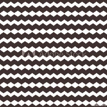 Vector geometric seamless pattern with horizontal stripes, zigzag lines, chevron. Simple abstract m
