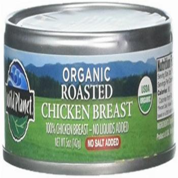 Wild Planet Organic Roasted Chicken Breast, 5 Ounce (Pack of