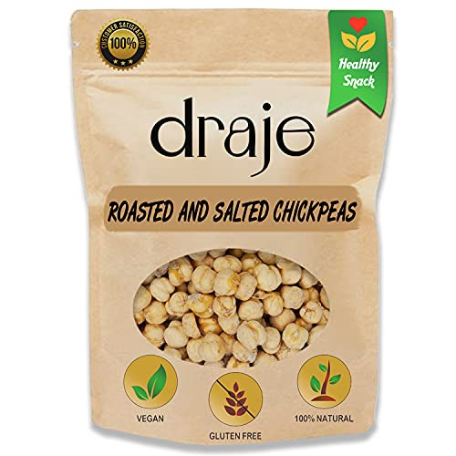 DRAJE Chickpeas Roasted and Salted, Crunchy Bulk Dried