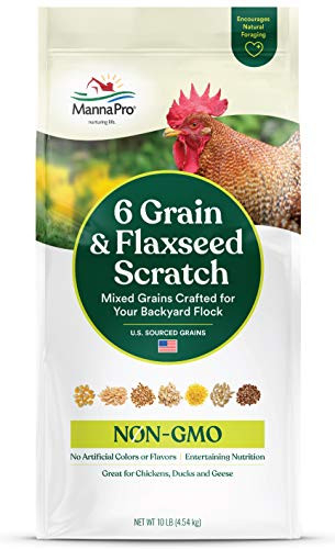 Manna Pro 6 Grain and Flaxseed Scratch   for Backyard