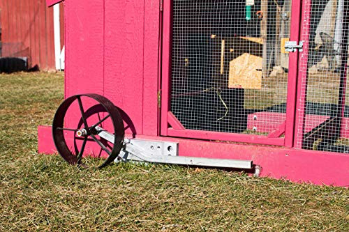 Steel Wheels for Chicken Coop. Easy way to mobilize your
