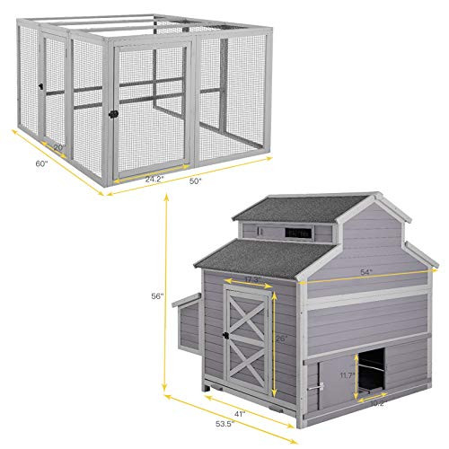 Super Large Outdoor Wooden Chicken Coop Hen House Poultry